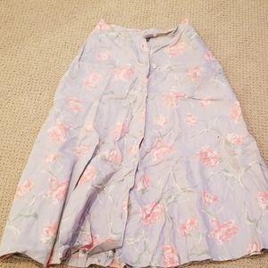 Linen Ralph Lauren midi skirt floral